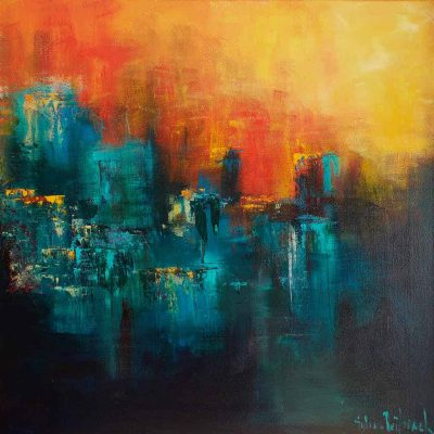 Abstract werk van Sylvia Reijbroek