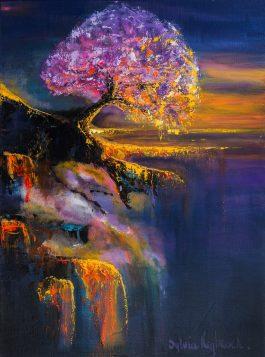 boom, schilderij van sylvia reijbroek