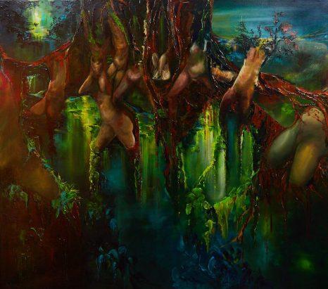 Dansende Bomen van Sylvia Reijbroek