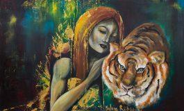 Vrouw met tijger van sylvia reijbroek